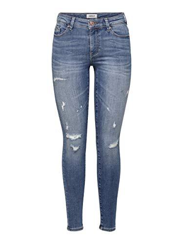 ONLY Damen ONLCARMEN LIFE REG SK AN DES AGI661 NOOS Jeans, Medium Blue Denim, 31/30