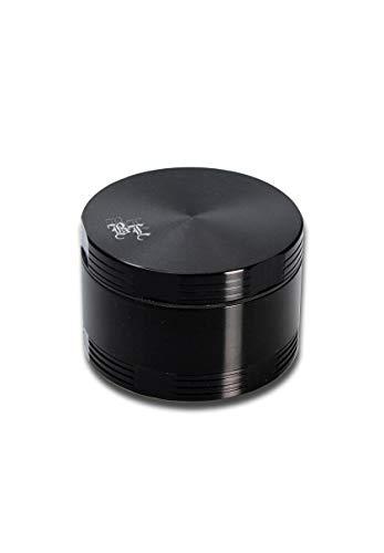 Black Leaf Alugrinder 55mm 4teilig schwarz Magnetverschluss inkl. Blechdose Grinder