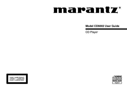 Marantz CD6200 CD Player Owners Instruction Manual Reprint [Plastic Comb]