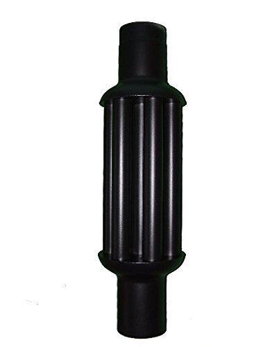 acerto 30175 Abgaswärmetauscher 160x1000mm - schwarz Energie sparen Leichte Reinigung Einfacher Einbau Warmlufttauscher, Rauchgaskühler zum Nachrüsten Kaminrohr, Abgasrohr, Ofenrohr für Öfen