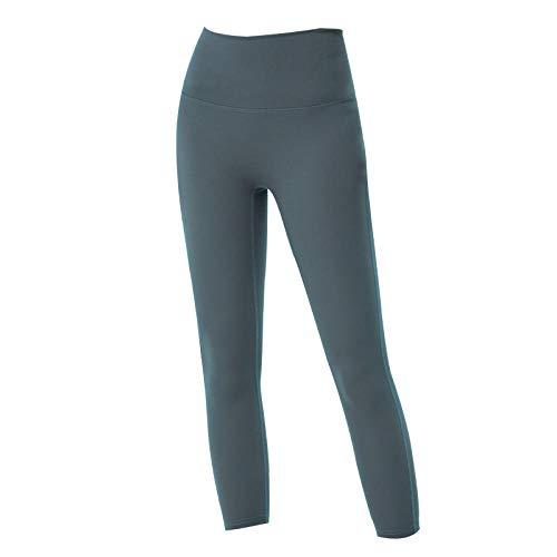 Eastbride Pantalones Pitillo recortados de Fitness, Pantalones de Yoga Ajustados con Bolsillo de Cintura Alta inalámbricos,Leggings Deportivos de Tiro Alto para Mujer Medias Entrenamiento