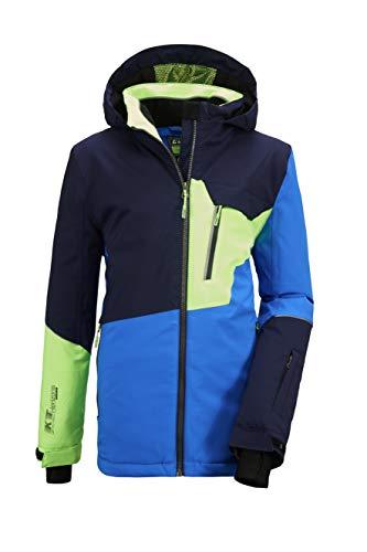 Killtec Jungen Glenshee BYS Ski Jckt B Funktionsjacke Mit Kapuze Und Schneefang, neon Blue, 152