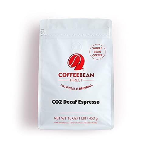 Coffee Bean Direct CO2 Decaf Espresso, Whole Bean Coffee, 1-Pound Bag