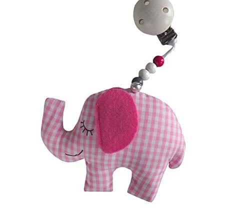 Raschel, Anhänger, Kinderwagen, Elephant, mit Glöckchen, Babybett, Maxicosi, Kinderwagenanhänger, Babyspielzeug, Kinderwagenkette