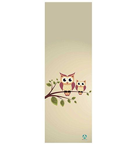 #DoYourYoga Tappetino da Yoga »Yoganidra« / Il Tappetino da Yoga e Ginnastica Ideale per i Principianti. Dimensioni: 183 x 61 x 0,4cm / Civette su Rami