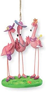 Cape Shore Pink Flamingo Girls BFFs Flock Together Christmas Holiday Ornament
