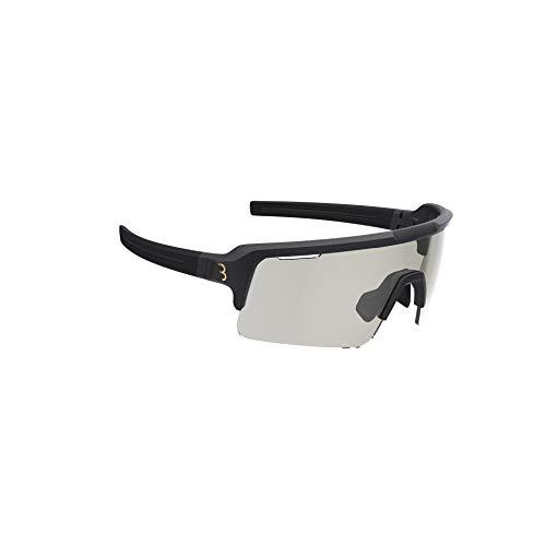 BBB Cycling Unisex-Adult Fahrrad Sportbrille Modernes Photochrome Gläser Grilamid MTB Rennrad Kies Damen und Herren Transparent Grau Fuse PH BSG-65PH, Matt Schwarz, One Size