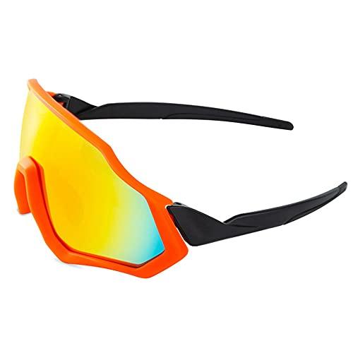 Fahrradbrille für Herren Damen - Polarisierte Sonnenbrille, UV400 Sonnenbrille Sportbrille Fahrer Brille UV Schutz für Outdooraktivitäten Autofahren Fischen Laufen Wandern Sport,C,Unisex