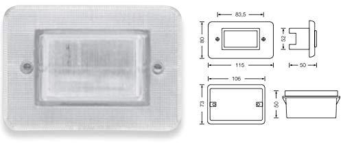 Normalux normalux - Baliza escalera rectangular neon 230v 50hz: Amazon.es: Iluminación
