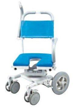 フランスベッド メディカルサービス シャワーキャリー 入浴用 車椅子 くるくるチェアD O型シート