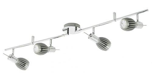 Eglo Élégant Basse spico lichtschiene en Chrome avec LED de Couleur argentée - 4 Ampoules-Longueur : 1065 mm