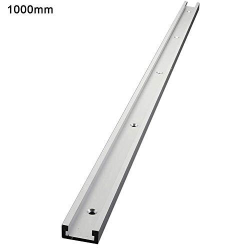 FORYOURS - Barra en T de aleación de aluminio, barra en T, raíl en T, guía de corte de madera, guía en T, guía de inglete en T para mesa de routers, madera, -, 1000mm