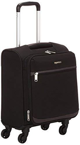 AmazonBasics - Trolley morbido con rotelle girevoli, 47 cm, dimensioni da bagaglio a mano, Nero