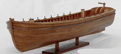 Hummla Maqueta Sacle 1/48 Madera Cortada con láser Maquetas Antiguas de Botes Salvavidas USS Bonhomme Richard Ship'S maquetas de Botes Salvavidas, 34 pies Madera de peral