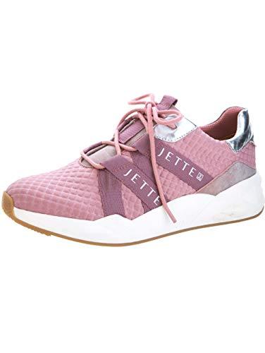 JETTE Sneaker aus struckturiertem Textilmaterial Rosé