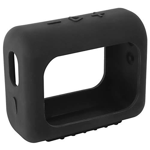 Hülle Ersatz für JBL GO 3 Bluetooth Speaker Headphone Wireless Lautsprecher Case Silicone Bluetooth Case zubehör Schutz Silikonhülle Abdeckung Protective Cover Schutzhülle (Schwarz)