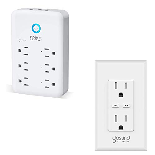 Smart Plug Outlet Extender-1pack and Smart Wall Outlet with Energy Monitoring-1pack