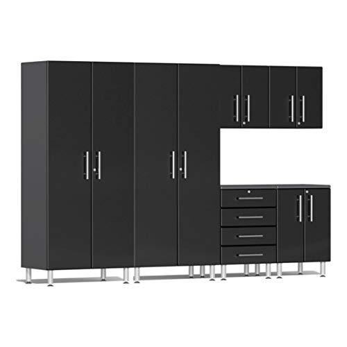Ulti-MATE UG23060B 6-Piece Garage Cabinet Kit in Midnight Black Metallic