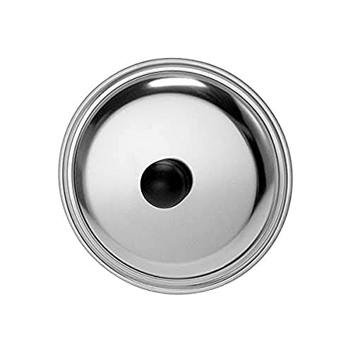Home Coperchio, 24 cm, Acciaio Inossidabile, Argento, 24x5x24 cm