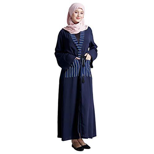 QinMM M-Muslim Big Size Celebrity Windnaht Langarm-Strickjacke - Sommerkleid Abendkleid Abendkleid...