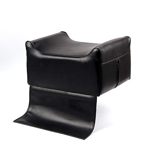 Beauty Salon Spa Equipment - Cojín para silla de peluquería, asiento elevador para niños, sillas altas, asiento auxiliar de aumento para bebé y niños, piel negra (Negro B)