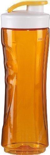 600ml Trinkflasche, große Ersatzflasche für Smoothies + Smoothiemaker nutzbar, verschließbarer Ersatzbehälter (orange)