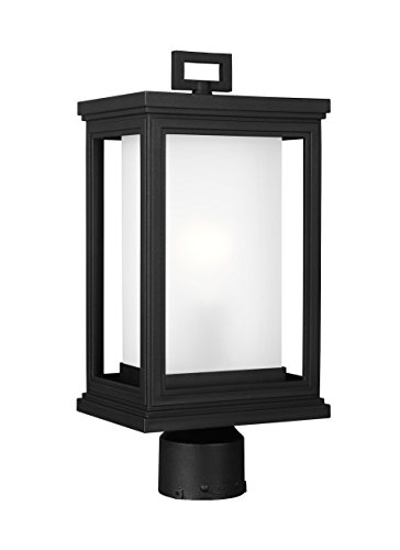 "Feiss OL12907TXB Roscoe StoneStrong StoneStrong Coastal Outdoor Post Lighting, Black, 1-Light (8""W x 17""H) 75watts"