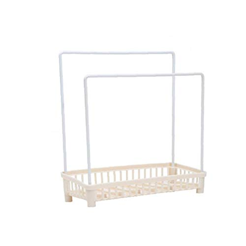 Kitchen Drying Rack Plastic Countertop Organizer Rack Removable Dishcloth and Sponge Drying Holder Drying Rack for Rag(Beige) 1Set Household Product Accessories