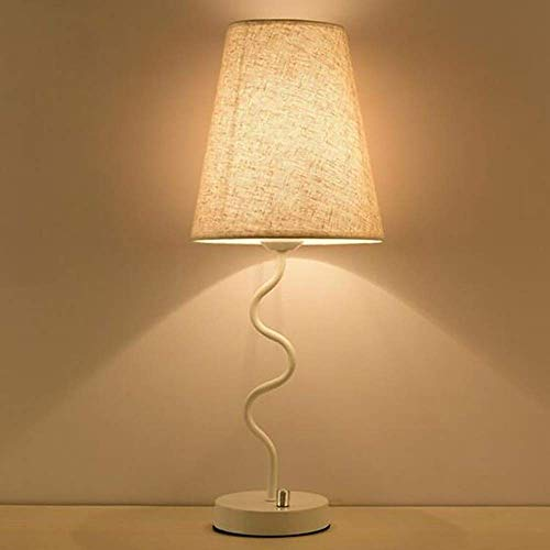 Lámpara de Escritorio Lámpara de Mesa Moderna Minimalista lámpara de Noche Dormitorio Caliente Decorativo lámpara Mesa Creativa Ojo Protector lámpara 20 * 52 cm (Color:Negro) (Color : White)