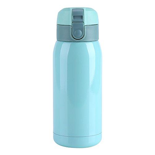 Les-Theresa 200/360 ML Botella de agua para niños, Mini taza aislada al vacío de doble pared de acero inoxidable Botella de agua térmica Taza de oficina Taza de viaje(360ml-Azul)