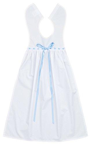 Grand bavoir de baptême en coton avec nœud bleu ciel, pour garçons et filles