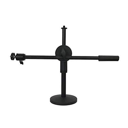 XYSQWZ Desktop Overhead Stand, Girl Cloakroom Makeup Phone Holder - Concert NBA Olympic Games Webcast Camera Camera Stand Stabilizer (Color : Black, Size : 22-32cm adjustable)