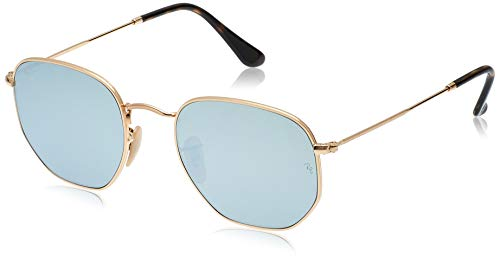Ray-Ban Junior Unisex-Erwachsene Hexagonal Sonnenbrille, Gold (Dorado), 54