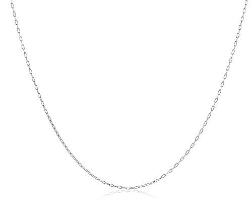Miore Schmuck Damen Halskette Anker Kette aus Weißgold 18 Karat / 750 Gold