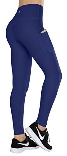 ESPIDOO Yoga Pants for Women High Waist Yoga with Pockets Sports Leggings XS