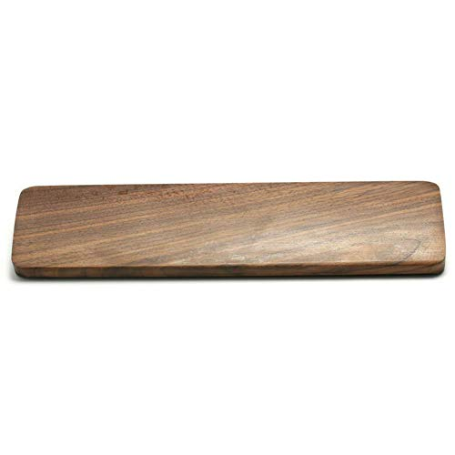 BEYST Keyboard Wrist Rest Pad,Black Walnut Wood 60 Key Keyboard Wrist Pad,Ergonomic Gaming Desk Wrist Rest,for Computer,Laptop