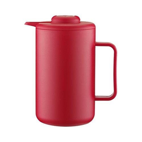 Bodum BISTRO Thermoskanne (Doppelwandig, Vakuum-Isolierung, Edelstahl, 1,0 liters) rot