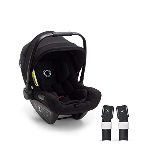 Bugaboo Turtle Air by Nuna, silla de coche para bebés y recién nacidos, con asa de transporte, ligera, duradera, con capota negra, con adapter para Bugaboo Fox
