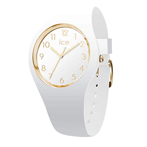 Ice-Watch - ICE glam White Gold Numbers - Weiße Damenuhr mit Silikonarmband - 014759 (Small)
