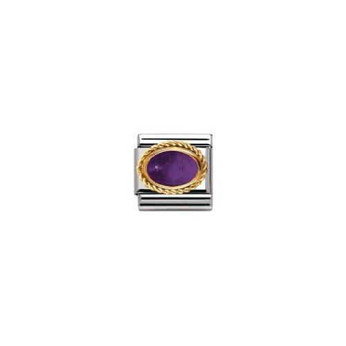 Nomination Composable Damen-Bead Classic ine Stahl Gold 18K + Godrone Amethyst 030508/02