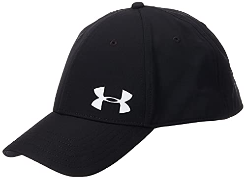 Under Armour Men's Golf Headline Cap 3.0, gorra con visera clásica, gorra para hombre hombre, Negro (Black/White (001)), M/L