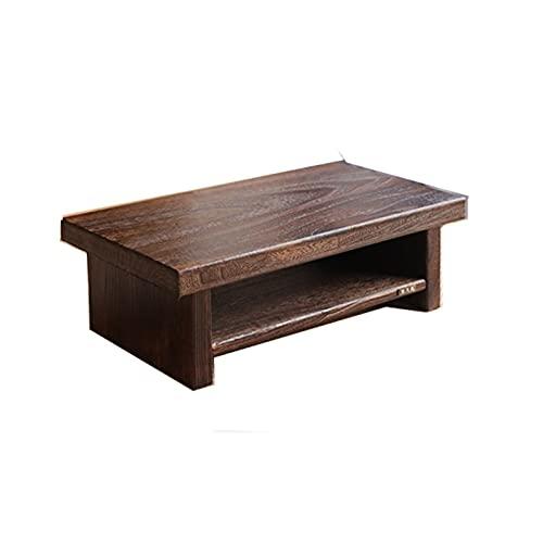 XLEVE Asiático Muebles Antiguos de té japonés Suelo Tabla Rectangular de la Sala del Ordenador portátil de Madera de café Tatami Tabla de Madera de Baja