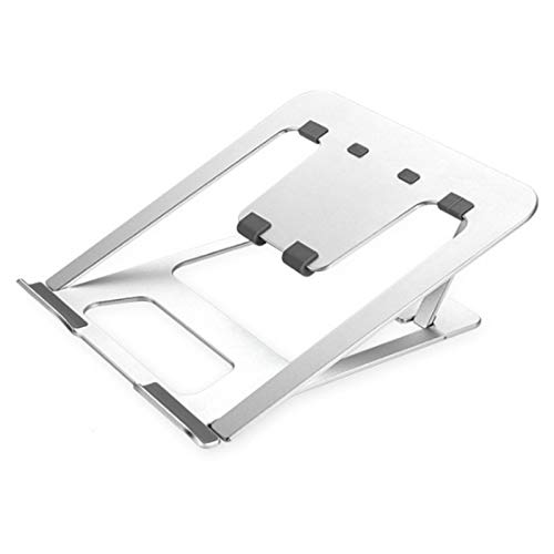 SSCYHT Laptop Stand Portable Height Adjustable Ergonomic Aluminum Computer Stand for Laptop Foldable Notebook Stand Holder Riser Compatible,Silver