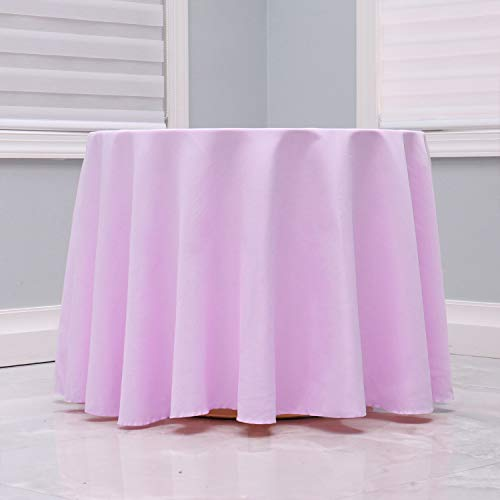 Kadut Lavender Tablecloth - 108' Inch Round Tablecloths for Circular Table Cover in Lavender Washable Polyester - Great for Buffet Table, Parties, Holiday Dinner & More