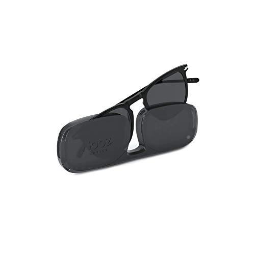 Nooz Gafas de sol polarizadas para hombre y mujer - Protección de categoría 3 - Color negro - con estuche compacto - Colección DINO