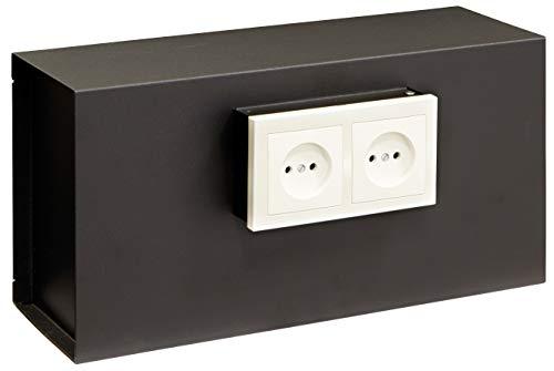 Arregui 23000W-S1 Caja Fuerte Camuflada para Rejilla Enchufe, Negro