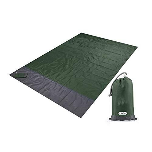 200x210 cm Paquete de picnic de bolsillo a prueba de agua Estera de playa a prueba de camping al aire libre Camping Manta Plegable Tienda de campaña Casa de cama Camping Mat Camp Cama Cama Camping Col