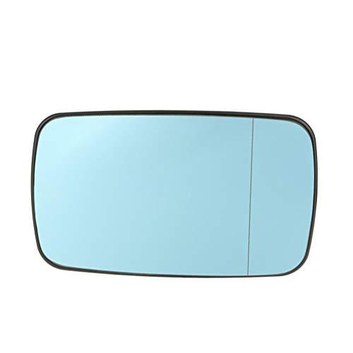 Bobury Azul Izquierdo Lado Derecho del Coche de Cristal climatizada Espejo retrovisor de Cristal 51168250438 Compatible de Accesorios para E46