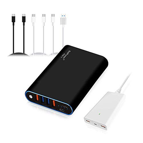 BatPower 75Wh High Power Delivery Laptop USB C Power Bank Compatible with MacBook Pro Air USB-C Laptop Portable Charger External Battery & Slim 120W PD USB-C Adapter, USB Fast Charge tablet smartphone