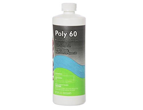 Quart Black Algaecide Poly 60 for Swimming Pools Non-Metallic & Non-Foaming - 29,090 Gallons Per Bottle by Nu-Clo 2015